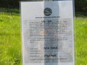 Herbacide Application Notice