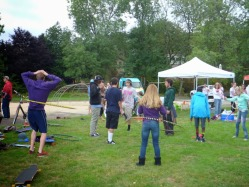 Circus Arts Teaching How to Hula Hoop Picnic 2015