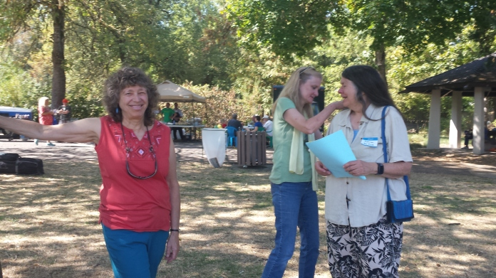 Emily, Carol and Madronna provided excellent stage management at the Southeast Neighbors Picnic & Festival 2014