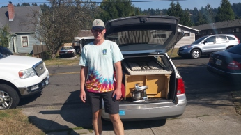 Southeast Neighbor Marty Wilde collected 3 car loads of donations for Abdul Ghaznavi at the picnic