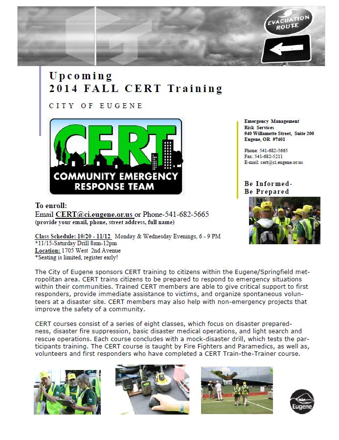 CERT Course Fall 2014