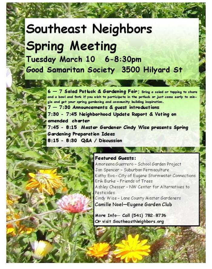 March Meeting Flyer