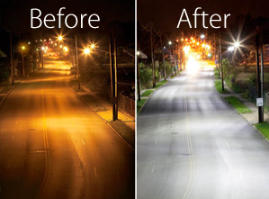 Moonlight Streetlights Southeast Neighbors