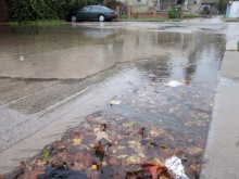 Flooded-storm-drain