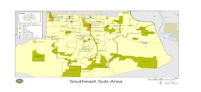 Southeast Eugene sub-area