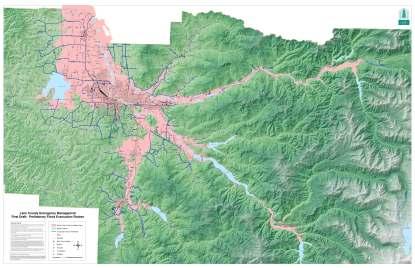 Flood Inundation Map Lane County